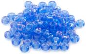 Beaders Paradise LT6E74 Czech Glass Sapphire A.B. 6/0 E-Beads in a Tube
