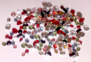 100pcs Assorted Acrylic Rhinestone Round,Square,Waterdrop,Heart & More Flat Back NAIL ART DECORATION
