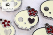 M22 Wholesale Cute Cream Sugar Skull Design 10pcs Bead Charm Pendant