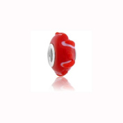 Charm Factory Red Bumpy Lampwork Glass Bead