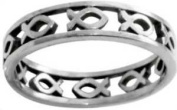 Ring-Cutout Ichthus-Style 433-(SS)-Sz 10