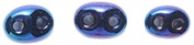 Preciosa Ornela 74SB579 Czech Twin 2-Hole Seed Bead, Opaque Iris Finish, 50gm, Blue