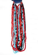 Blue Moon Royal Boheme Glass Bead Hank 11 Strands/Pkg, Seed Beads, Red, Black and Turquoise