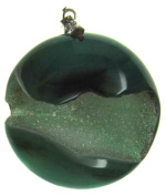 Bead Collection 41316 Green Dyed Druzy Pendant
