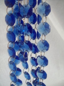 1 Yard Sapphire Blue Chandelier Crystal Prism Chains