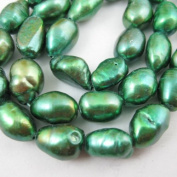 Freshwater Pearls 10-11mm Nuggets Dark Green Colour