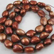 Freshwater Pearls 9-10mm Nuggets Brown Colour