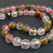 Multi Coloured Quartz Beads - Faceted Round 8mm