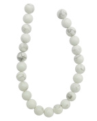 Tennessee Crafts 1428 Semi Precious White Howlite Round Beads, 8mm