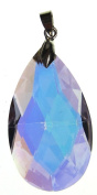 Bead Collection 41291 Glass AB Purple Faceted Teardrop Pendant, 22 by 38mm