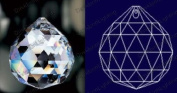 """Ball Sphere 30% Lead Crystal Faceted Sphere 20mm - 4/5"""" inch - 4/5"""" inch #701-20 Set of 10pc"""