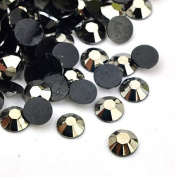 200 pc Resin Cabochons, maybe Including Some Matte Individuals, Faceted, Flat Round, Mixed Colour, 6x2mm