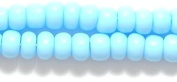 Preciosa Ornela 6SB161 Czech Seed Bead, Opaque Light Turquoise Blue, Size 6/0