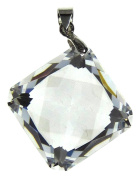 Bead Collection 41270 Cubic Zirconia Crystal Square Pendant, 14 by 12mm