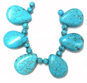 Bead Collection 40150 Semi Precious Turquoise Beads, 15cm