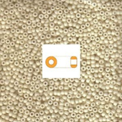Cream Matte Opaque Miyuki Japanese round rocailles glass seed beads 11/0 Approximately 24 gramme 13cm tube