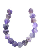 Tennessee Crafts 1027 Amethyst Heart Beads, 12mm, 19-Piece