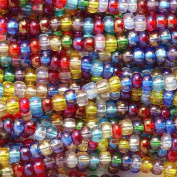 Preciosa Ornela Czech Seed Bead, Lustre Transparent Mix, Size 6/0, 6 strings