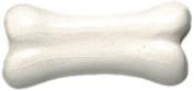 Shipwreck Beads 11 by 22mm Peruvian Hand Crafted Ceramic Dog Bone Beads, White, 8 Per Pack