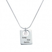Alexa's Angels 3-Word Pearl Necklace Keep the Faith