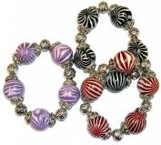 Marble Beaded Charm Bracelet