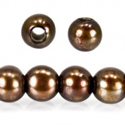 Dark Sage Large Hole Off Round Freshwater Pearls