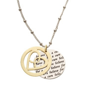 Alexa's Angels Believe for A Cure Circle Icon Necklace