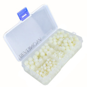 BEADNOVA White Mother of Pearl Shell Beads Gemstone Round Loose Beads with Bead Organiser Carry Case for Jewellery Making