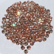 100 pcs 1.3cm wide loose Light Brown Crystal Like Beads