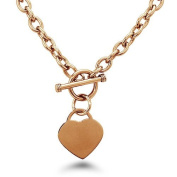 Stainless Steel Gold PlatedHeart Tag Necklace