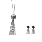 Twinkle Fashion Accessories Opera Water Fall Necklace and Matching Earrings