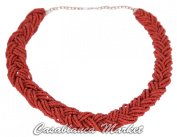 Moroccan Coral Braid Necklace