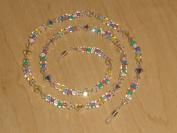 . Crystal AB Czech Glass Bead Mix Eyeglass Chain Holder