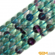 Gem-Inside Round Natural Fluorite Beads Strand15 Inchesjewelry Making Beads