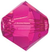 Mode Beads Preciosa Jewellery Bicone Crystals, Fuchsia