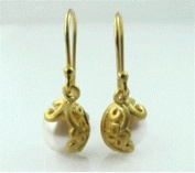 Geolin Jewellery Beyond - Scandinavian Luxury Sterling Silver Lady Pearl Earrings, White