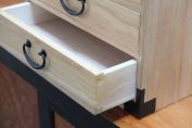 Japanese tansu style jewellery box, KB35C, 3 drawers box, clear finish, solid kiri wood