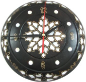 Wall Clock with Mother of Pearl Inlaying