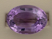 23.30 Carat Brazilian Amethyst Oval Gem Stone Gemstone Faceted Natural