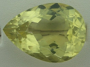 59.50 Carat Pear Brazilian Citrine Gem Stone Gemstone Faceted Natural