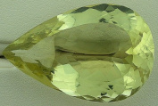 85.50 Carat Pear Brazilian Citrine Gem Stone Gemstone Faceted Natural
