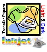 TRANSFER PAPER FOR INKJET 25 SHEETS FOR LIGTH FABRICS 8.5x11