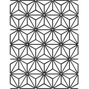 Quilt Stencils By Pepper Cory-7.6cm - 1.3cm Stars