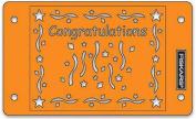 """Fiskars 5673 """"Congratulations"""" Cardboss Embossing Stencil Set"""