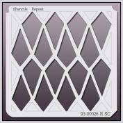 iStencils Repeat Wall Stencil 93-00026 R SC 20cm X 20cm