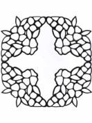 Ecstasy Crafts Richelieu Temp. Cross Of Flowers