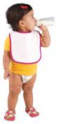Rabbit Skins Infant Snap Bib, Raspberry, One Size