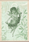 Inkadinkado Wood Stamp, Angel Collage