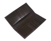 Sage Brown Genuine Leather Men's Tall Breast Wallet