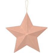 Darice NOM151122 Paper Mache Star Ornament, 20cm